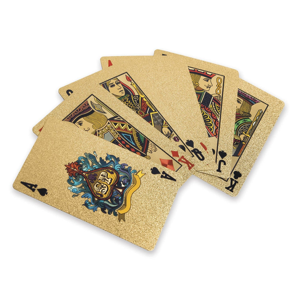 24K Gold & Diamond Playing Cards