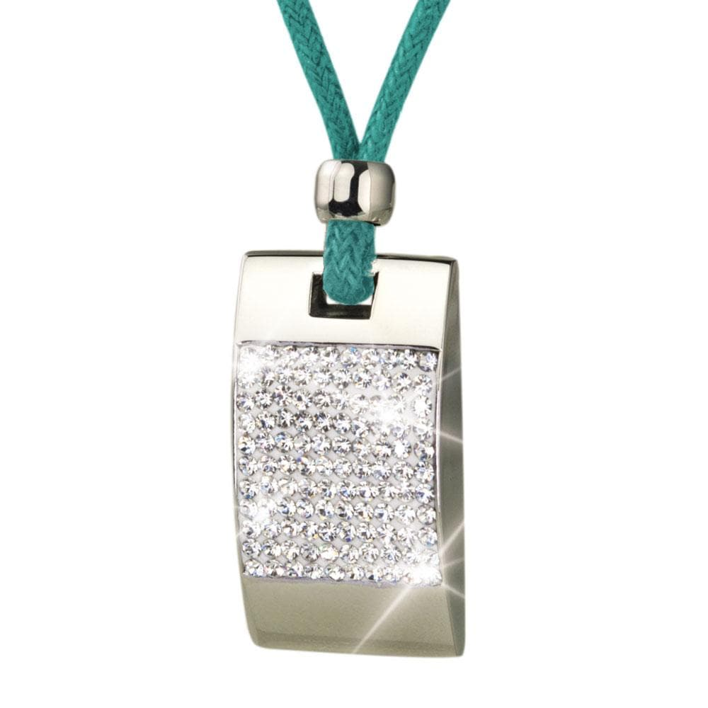 Crystal Tablet Turquoise Pendant