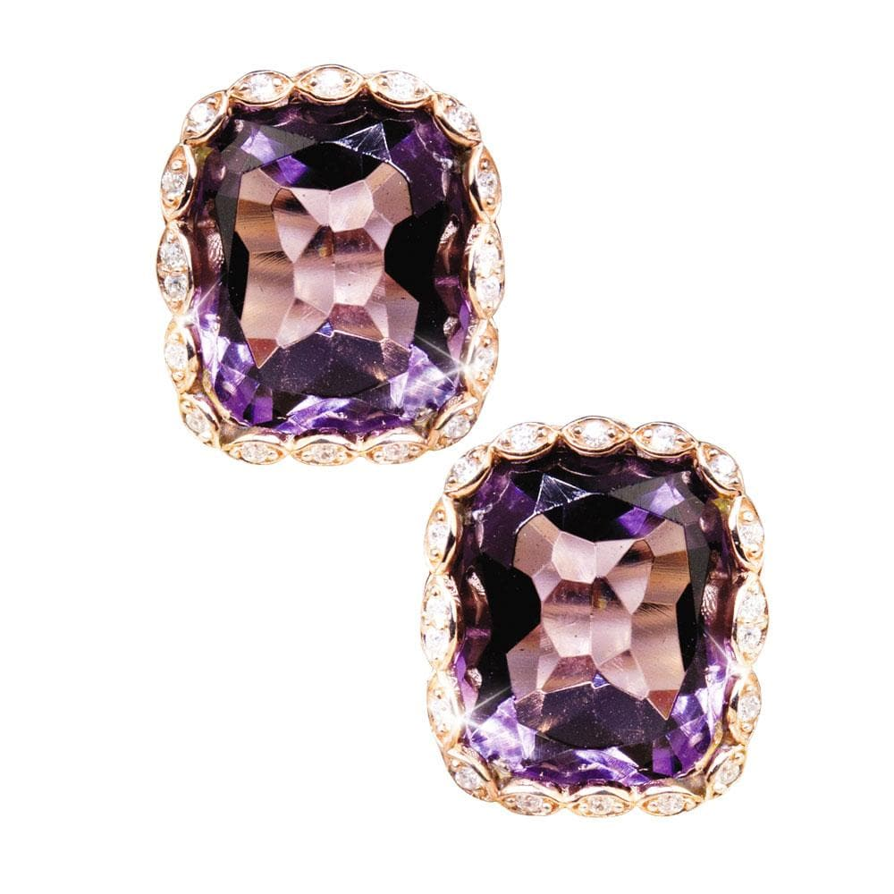 Athena Amethyst Earrings