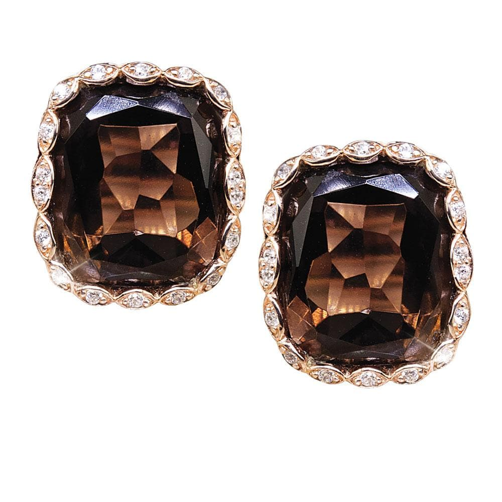 Athena Smokey Quartz Earrings