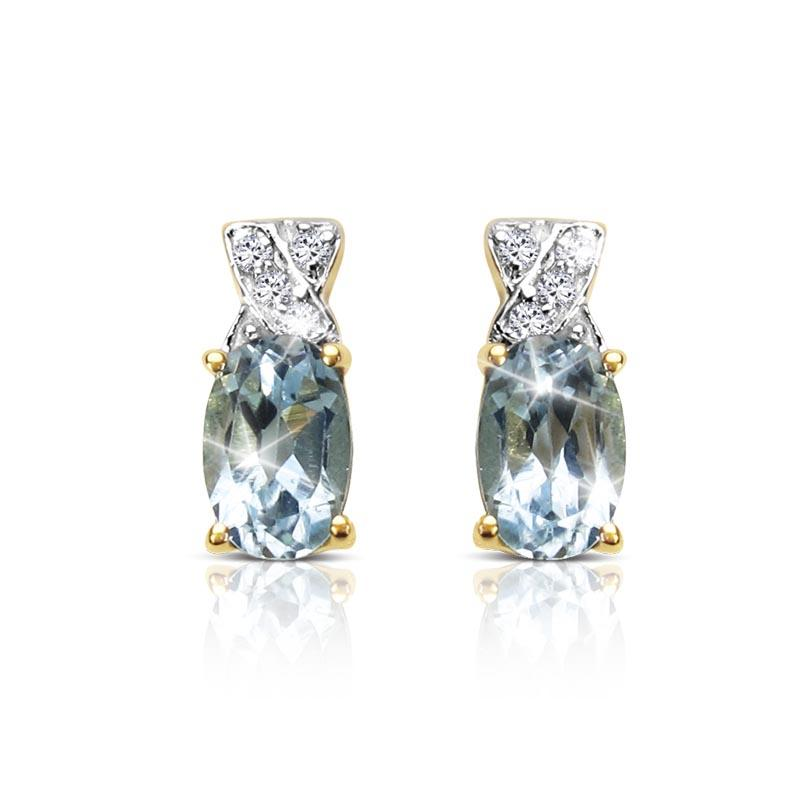 Majorelle Blue Topaz Earrings
