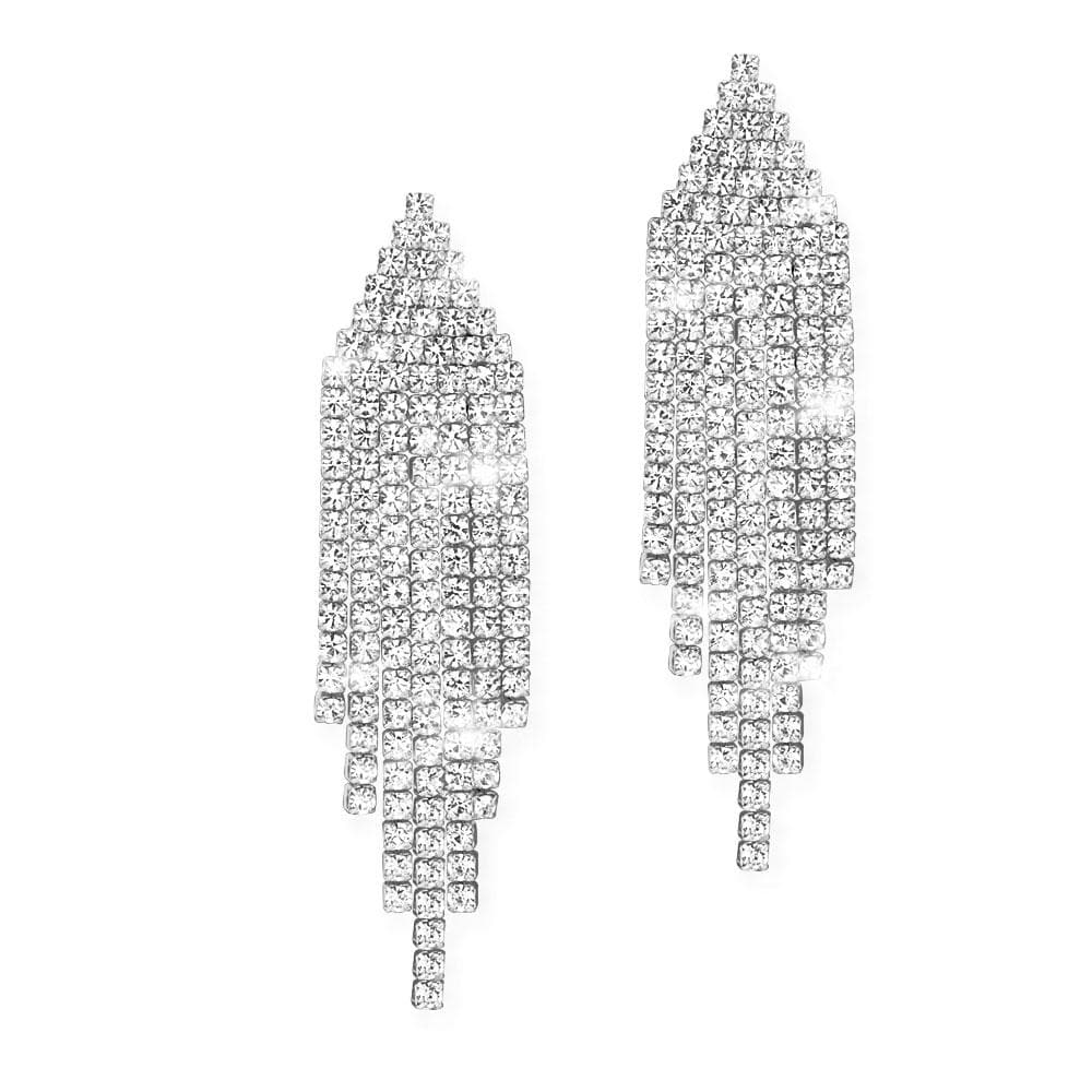Decadence Rhodium Earrings