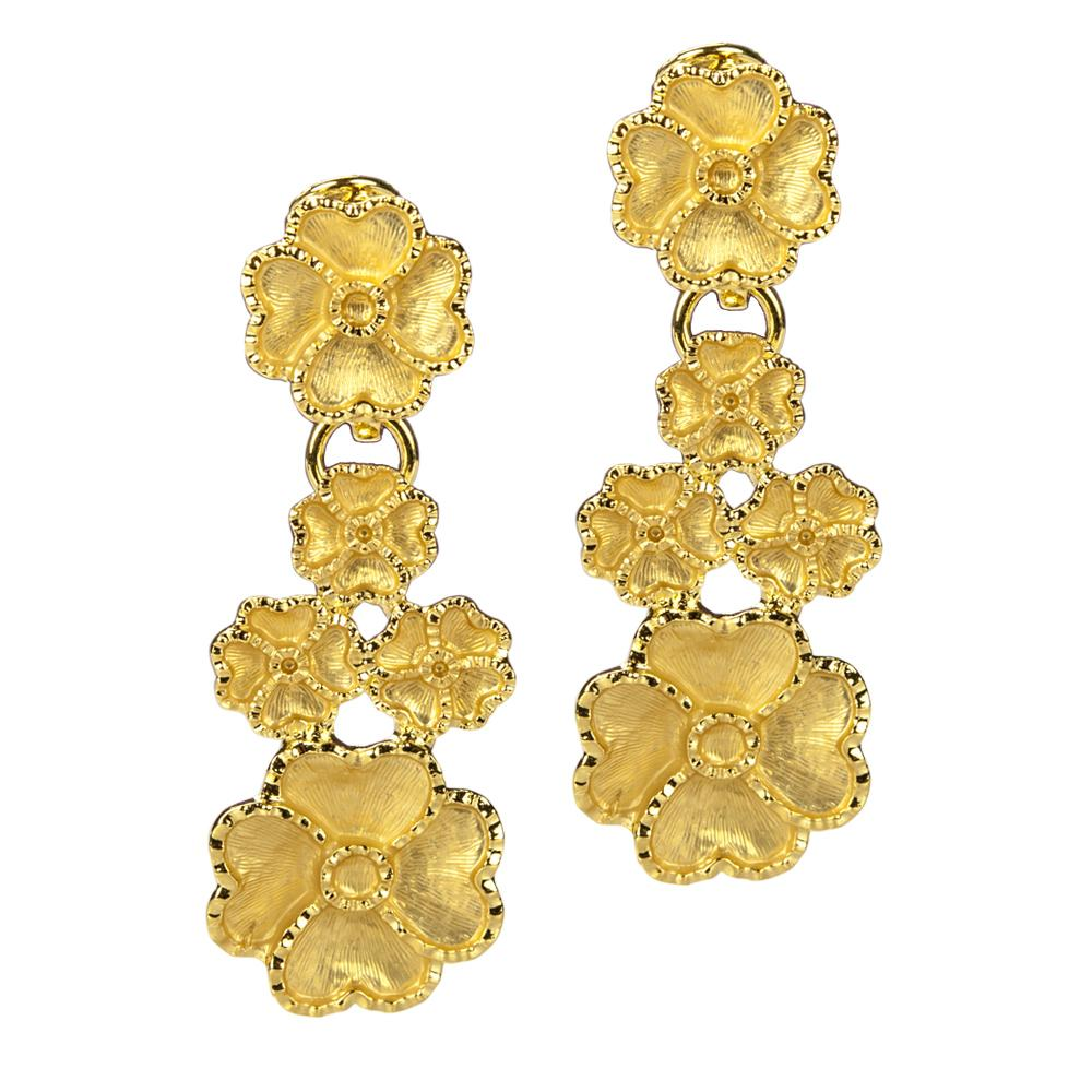 Golden Flower Cascade Earings