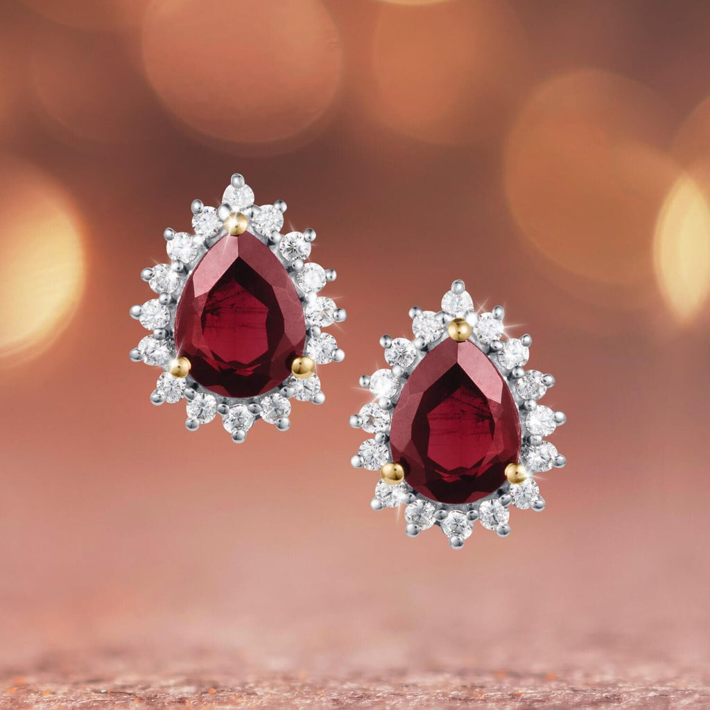 Daniel Steiger Garnet Fire Earrings - Catalog Shot