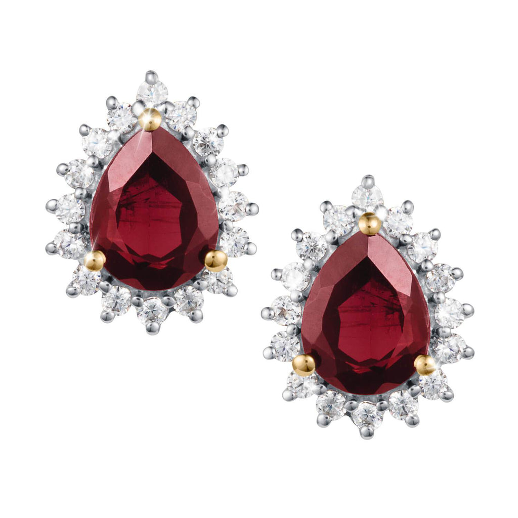 Daniel Steiger Garnet Fire Earrings
