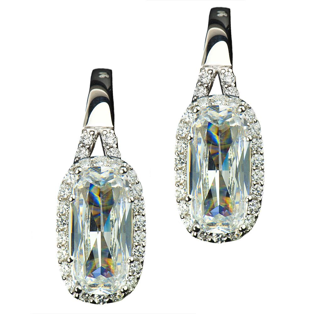 Glacier Rhodium Earrings