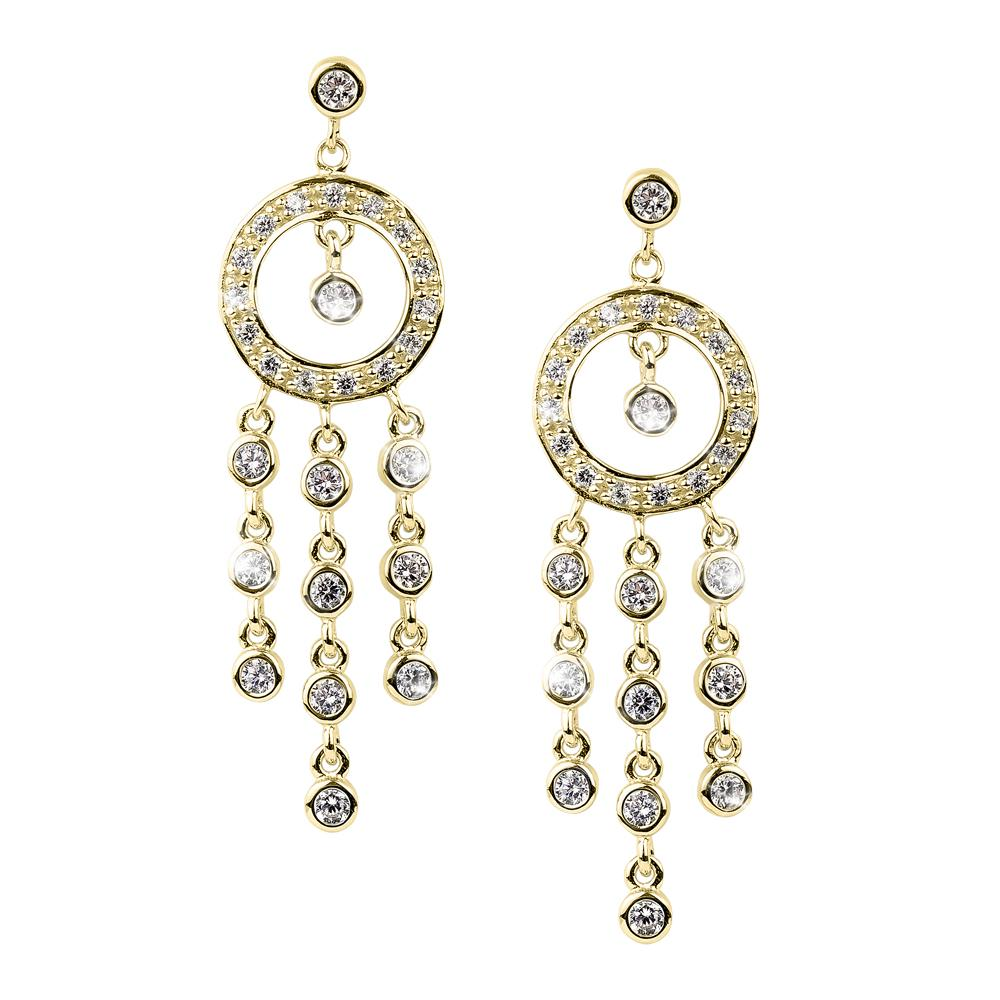 Raindrop Chandelier Gold Earrings