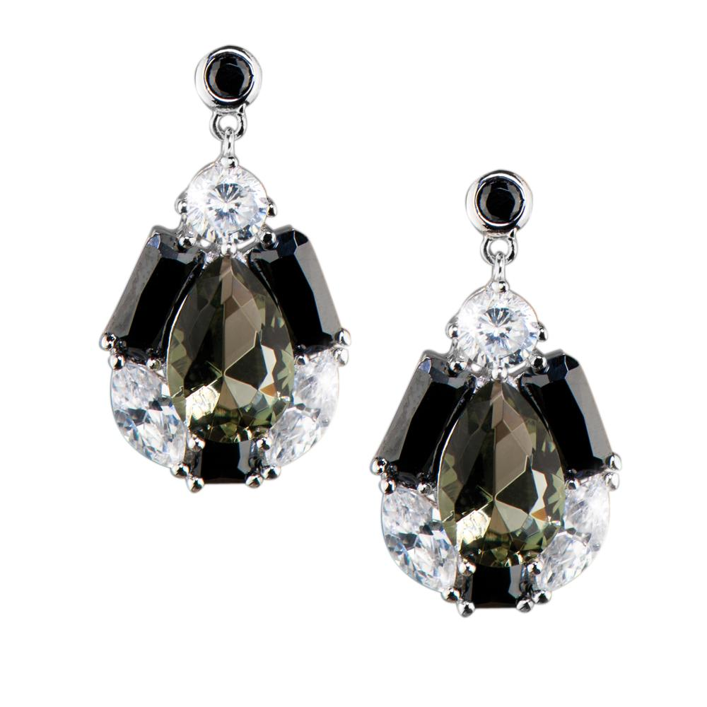 Smokey Pear Earrings