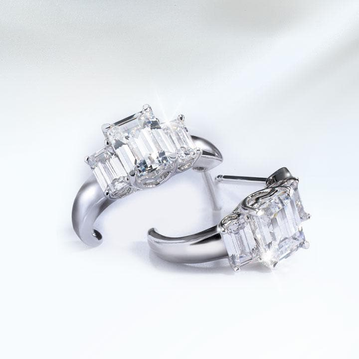 Deco Emerald Cut Earrings