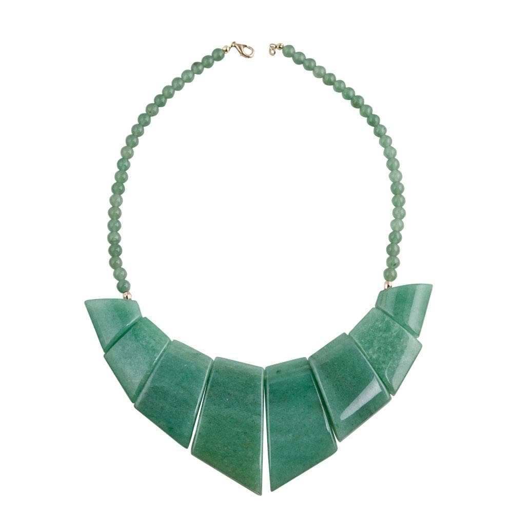 Inca Green Agate Necklace