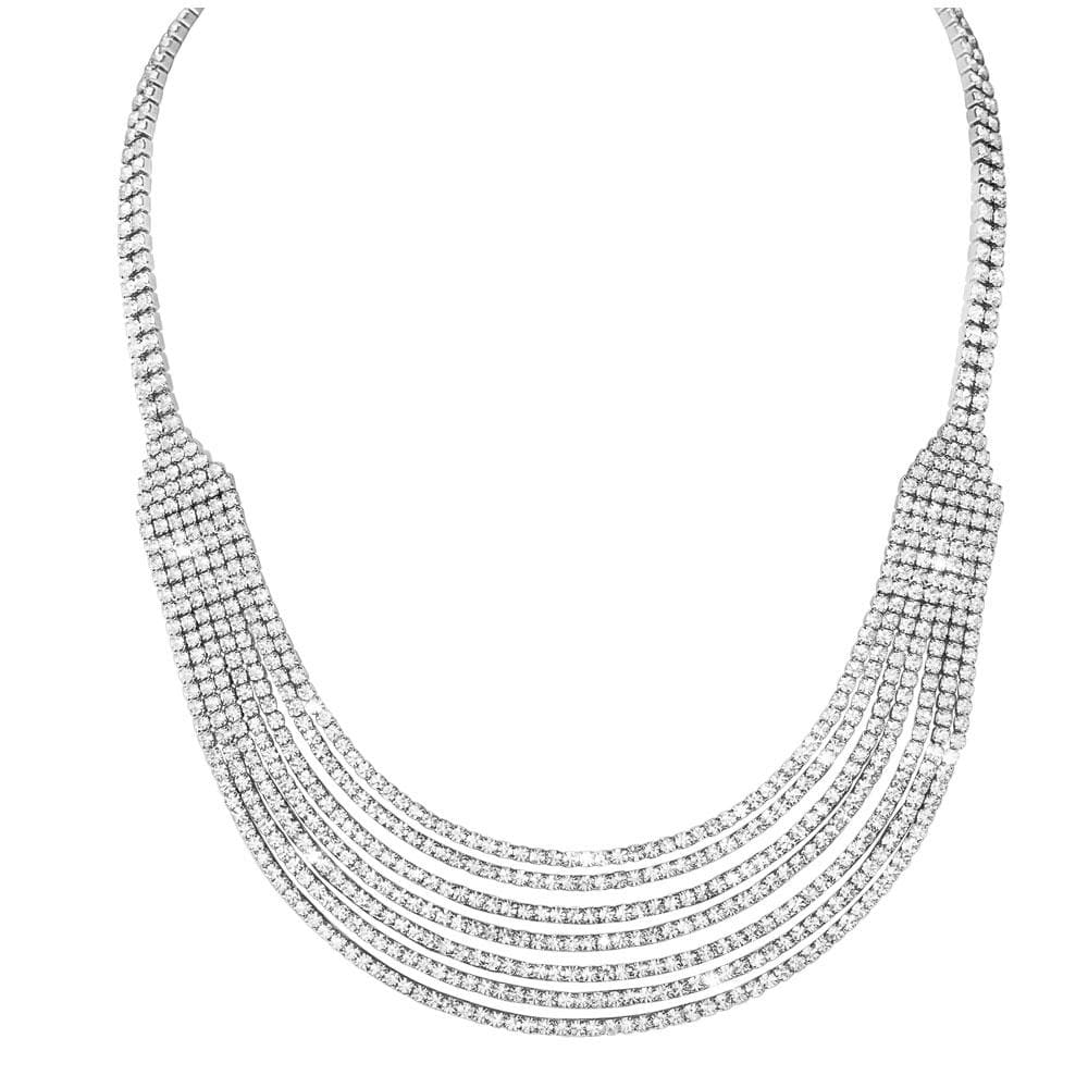 Decadence Rhodium Necklace