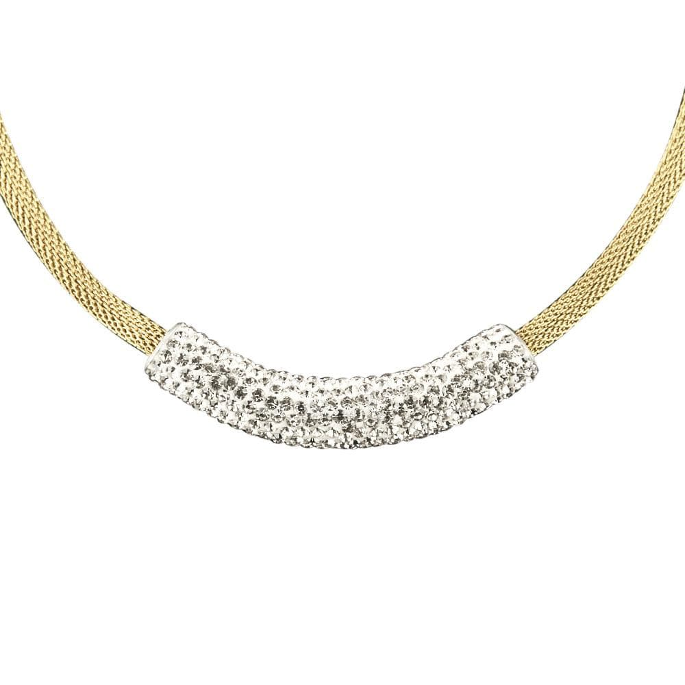 Crystal Contessa Gold Necklace