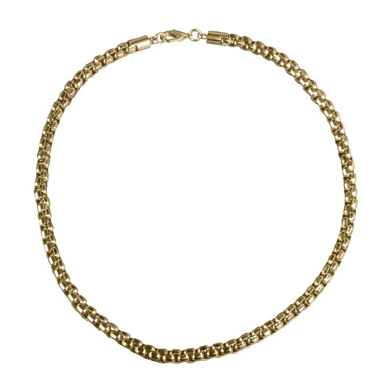 Chester Gold Steel Necklace