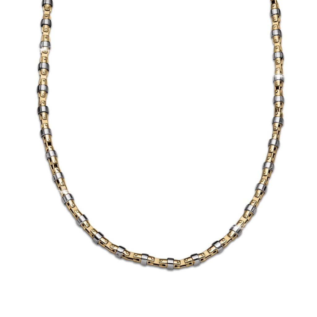 Two-Tone Rivets Necklace