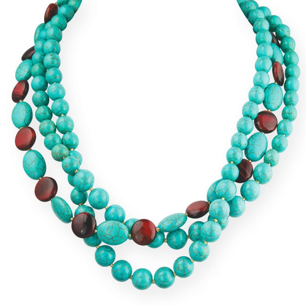 Turquoise and Tiger's Eye Necklace