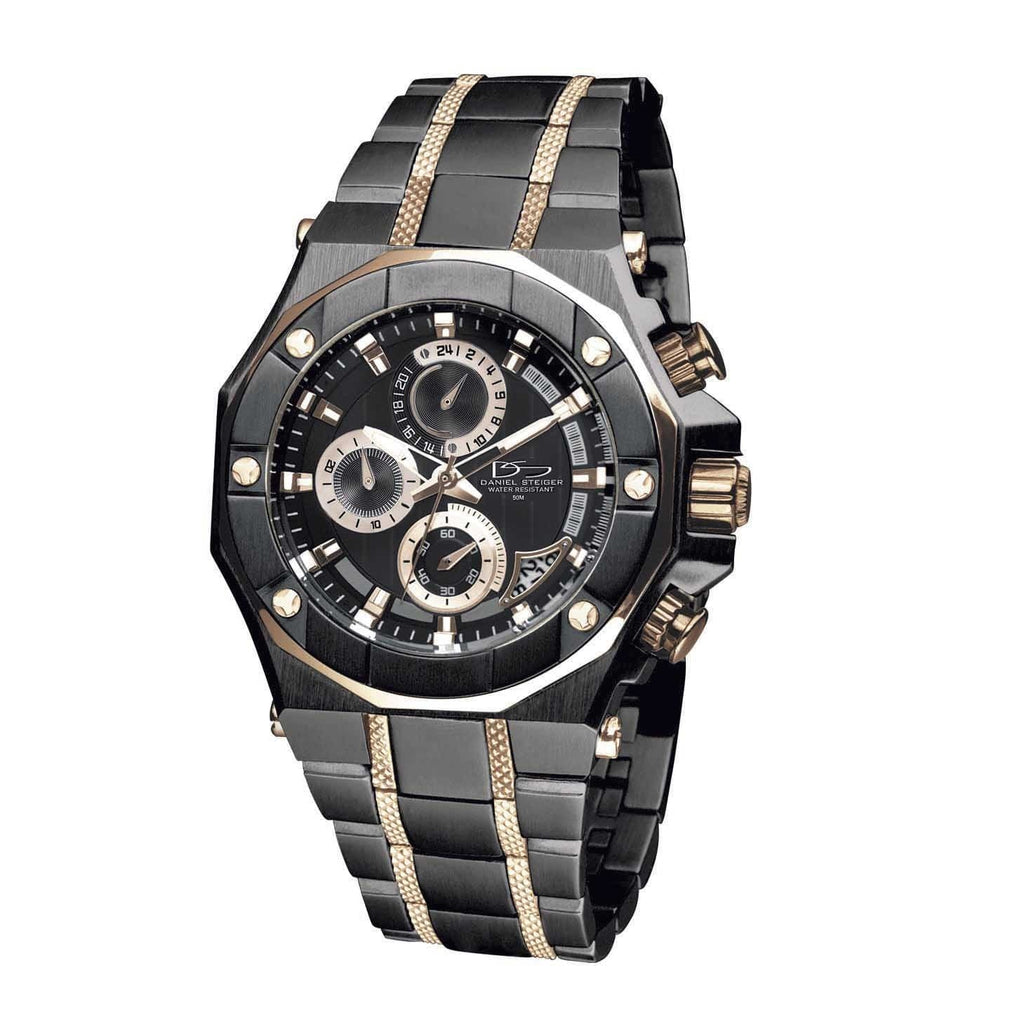 Daniel Steiger Phantom Rose Gold & Black Watch