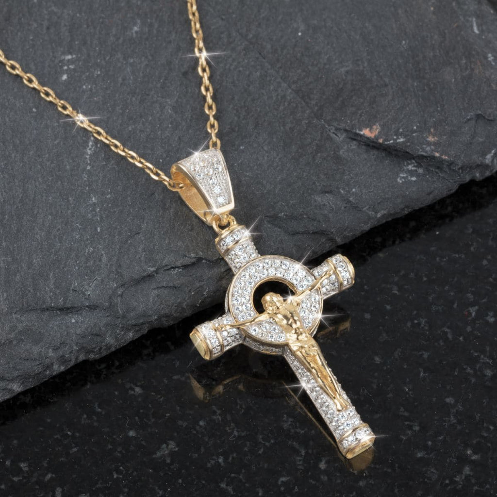 Daniel Steiger Celtic Diamondeau® Crucifix Pendant - Catalog Shot