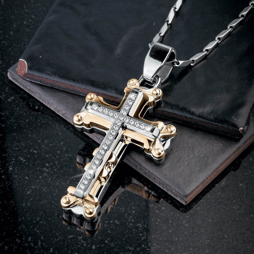 Daniel Steiger Goliath Cross Pendant - Catalog Shot