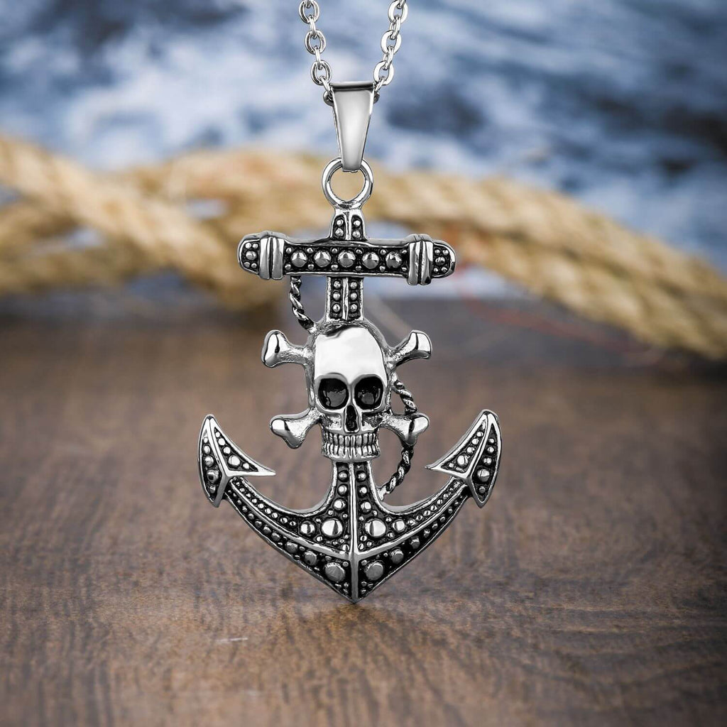 Anchors Aweigh Skull Pendant