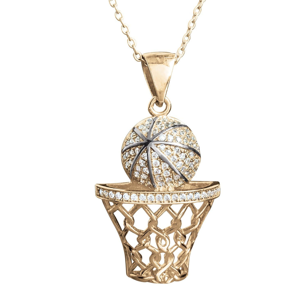 Daniel Steiger Shoot The Hoop Pendant Basketball Men's Pendant