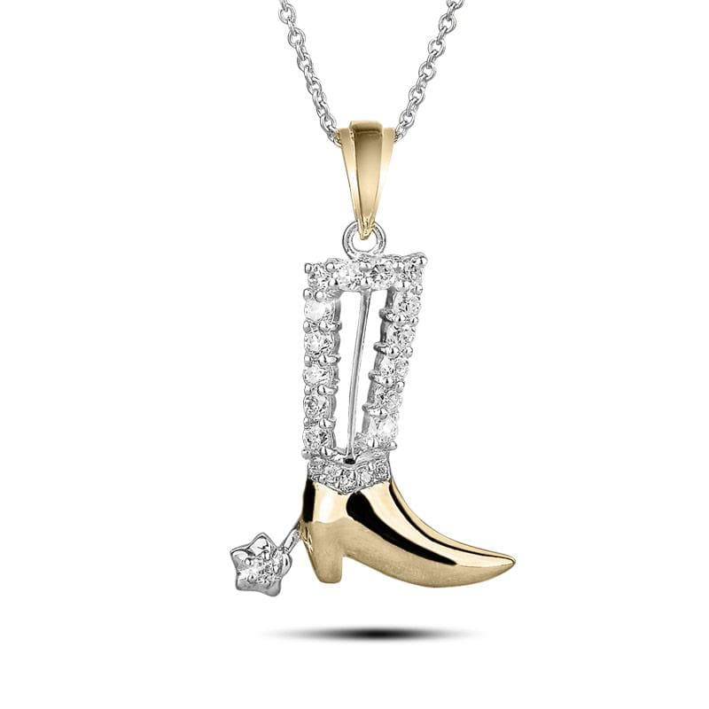 Two Tone Boot Pendant