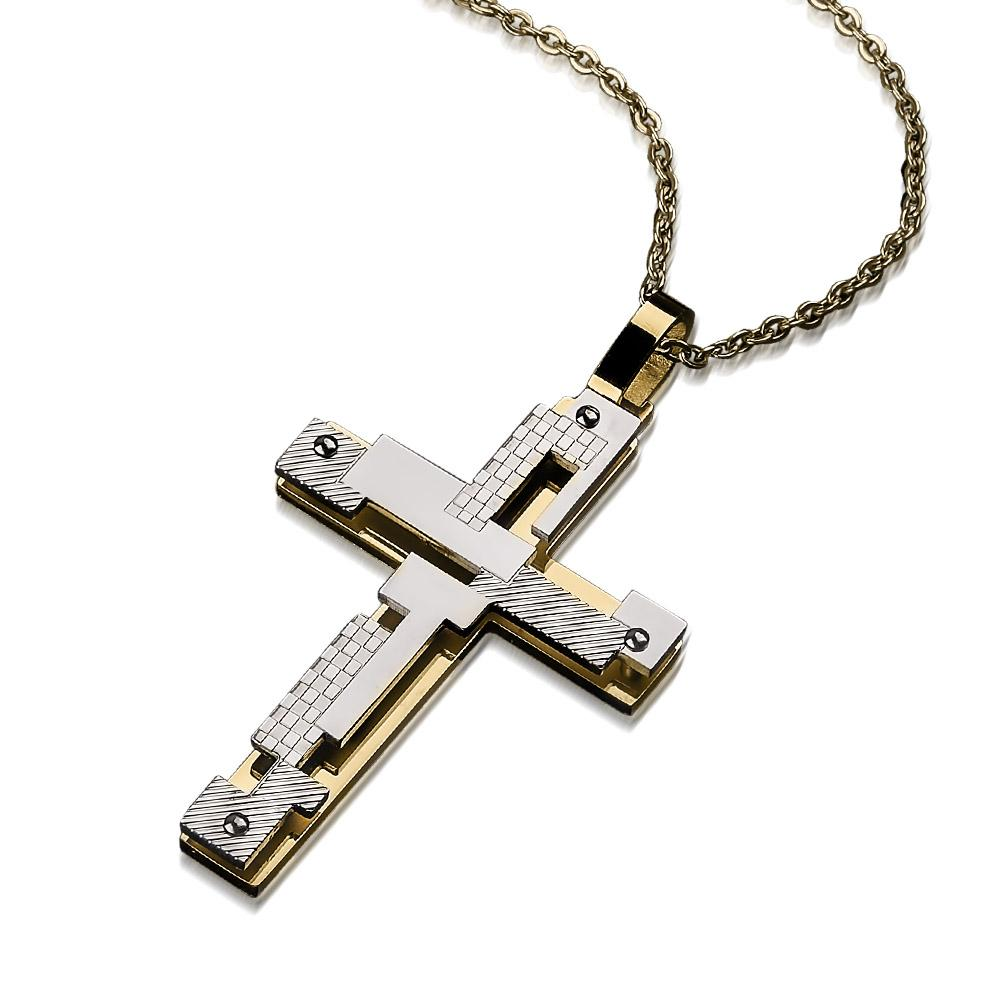 Contemporary Men's Cross Pendant