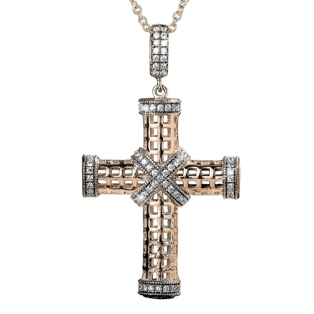 Riviera Rose Gold Cross