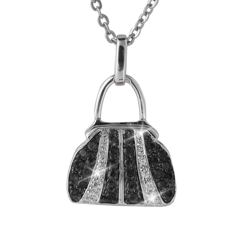 Couture Handbag Rhodium Pendants