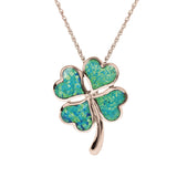 Lucky Rose Gold Four Leaf Clover Pendant