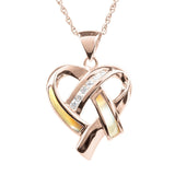 Opal Heartbeat Rose Gold Pendant
