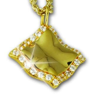 Paris Scarf Gold Pendant