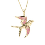 Flying Swallow Yellow Gold Pendant