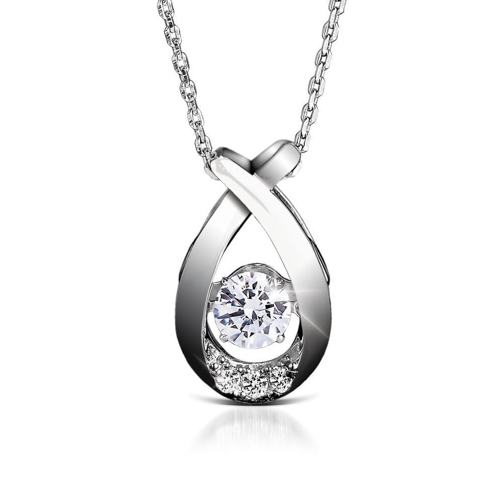 Sterling Silver Dancing Jewelry Platinum Collection Pendant