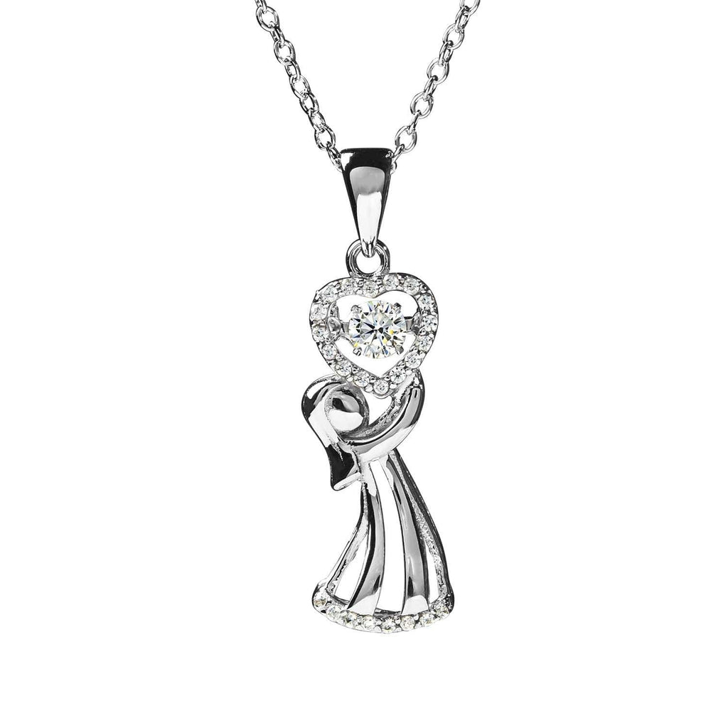 The Gift 'Dancing' Rhodium Pendant