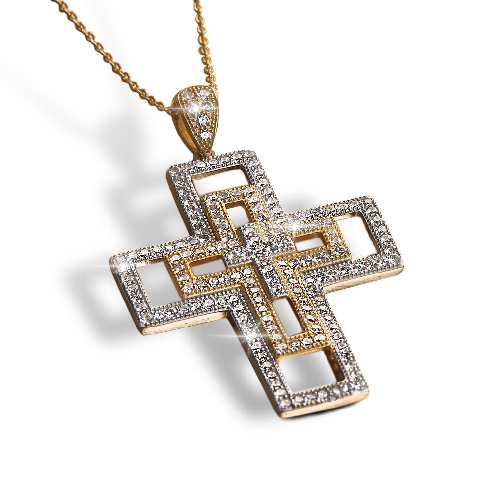 Layer Cross Pendant