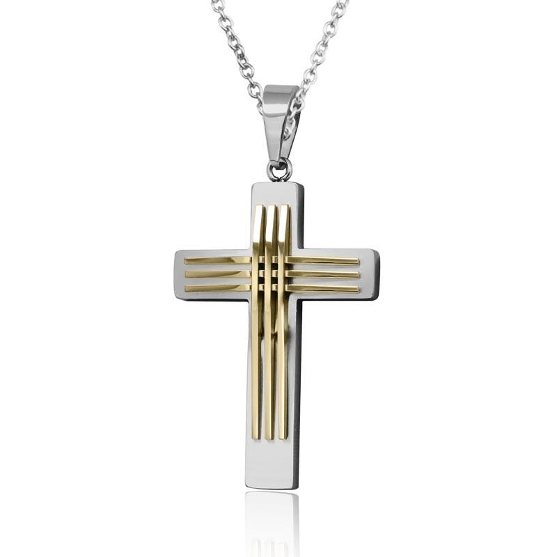 Two Tone Linear Cross