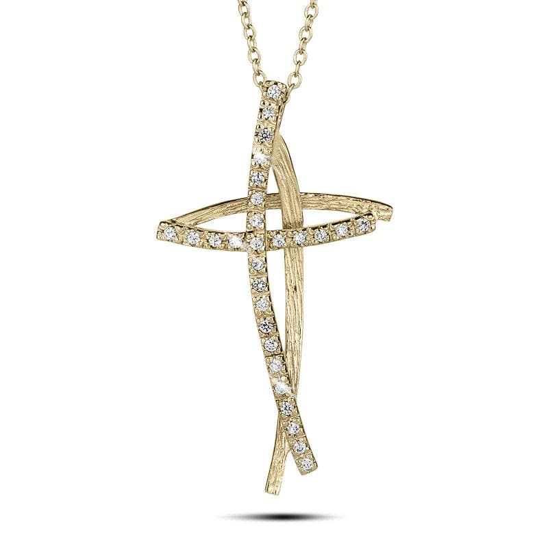 Decoria Gold Cross Pendant