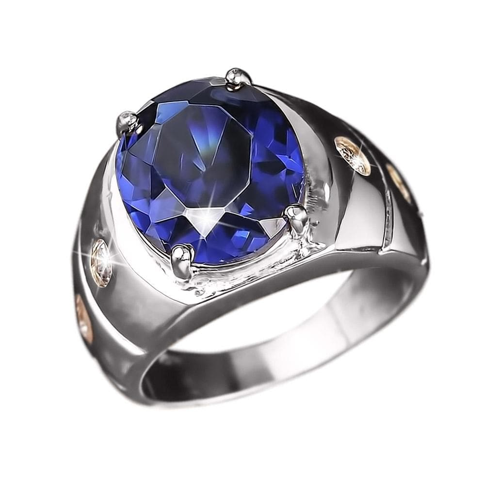 Shadow Men's Blue Ring