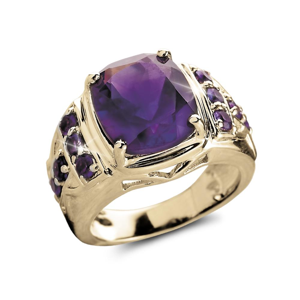 Majestic Amethyst Men's Ring