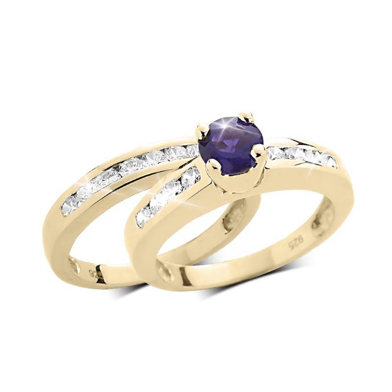 Josephine Amethyst Duo Bridal Ring