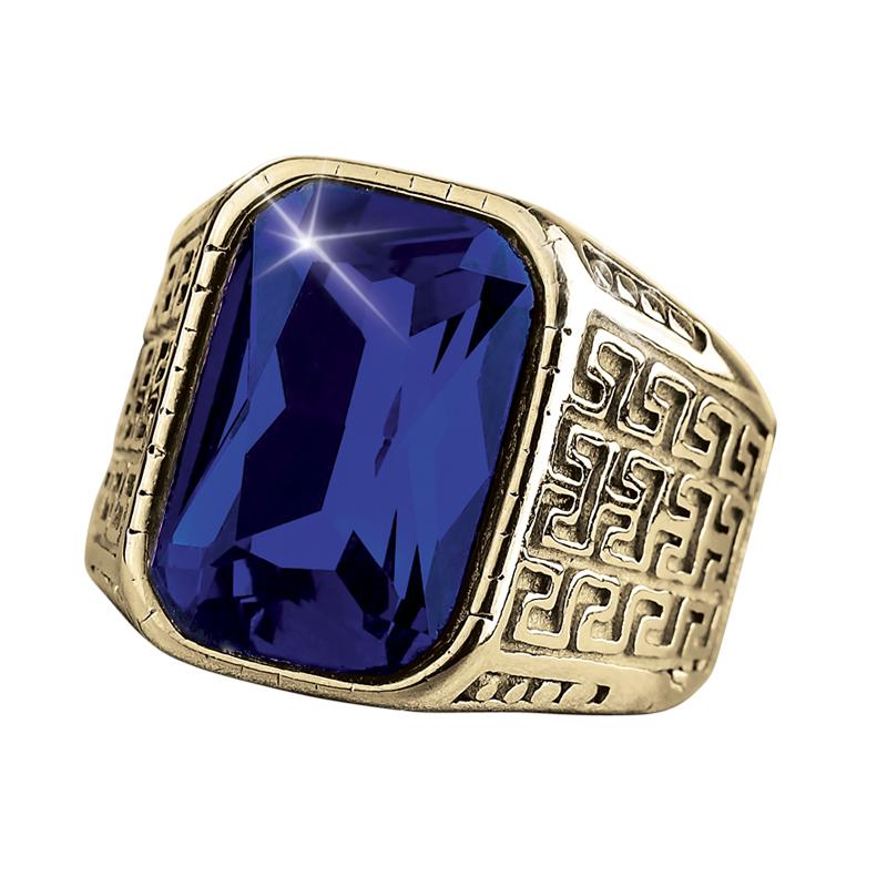 Blue Knight Ring
