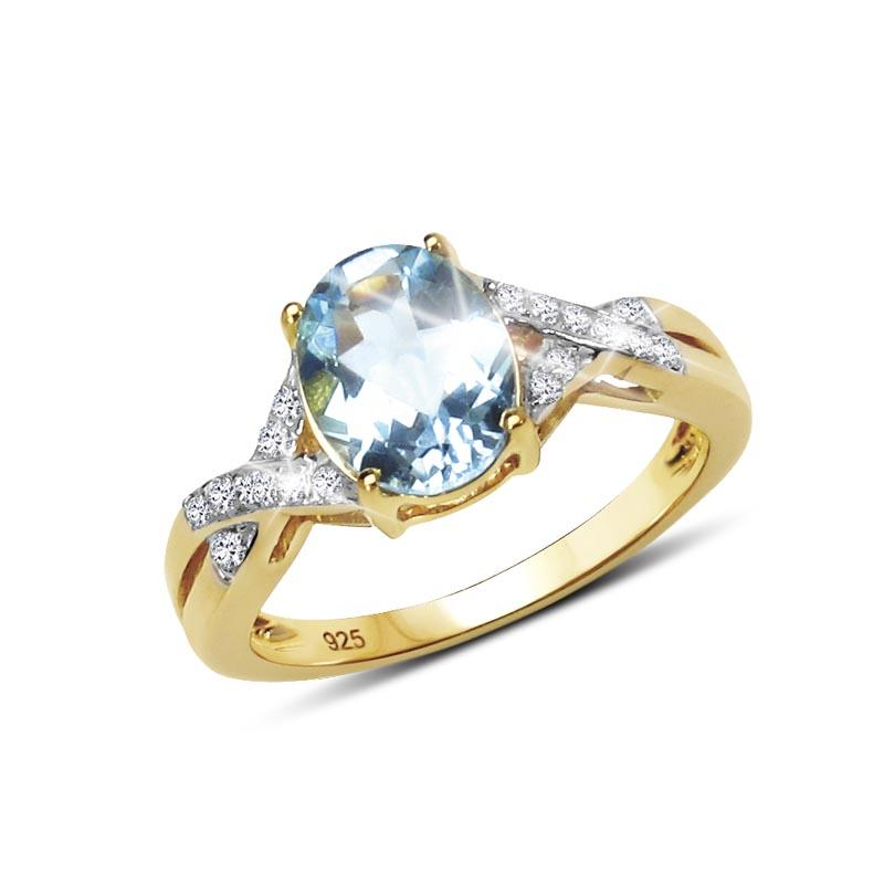 Majorelle Blue Topaz Ring
