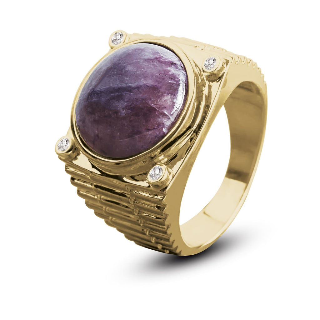 Chicago Charoite Ring