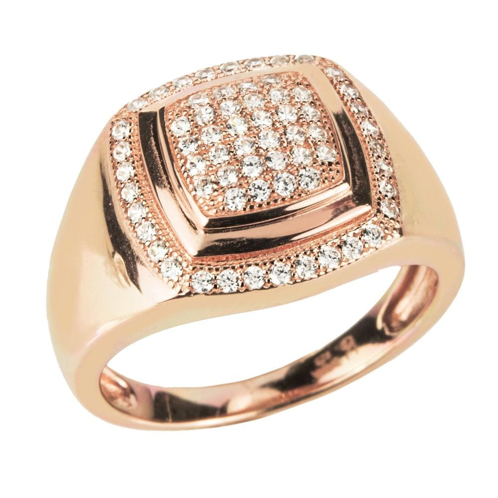 Diamond Icon Men's Rose Gold Ring