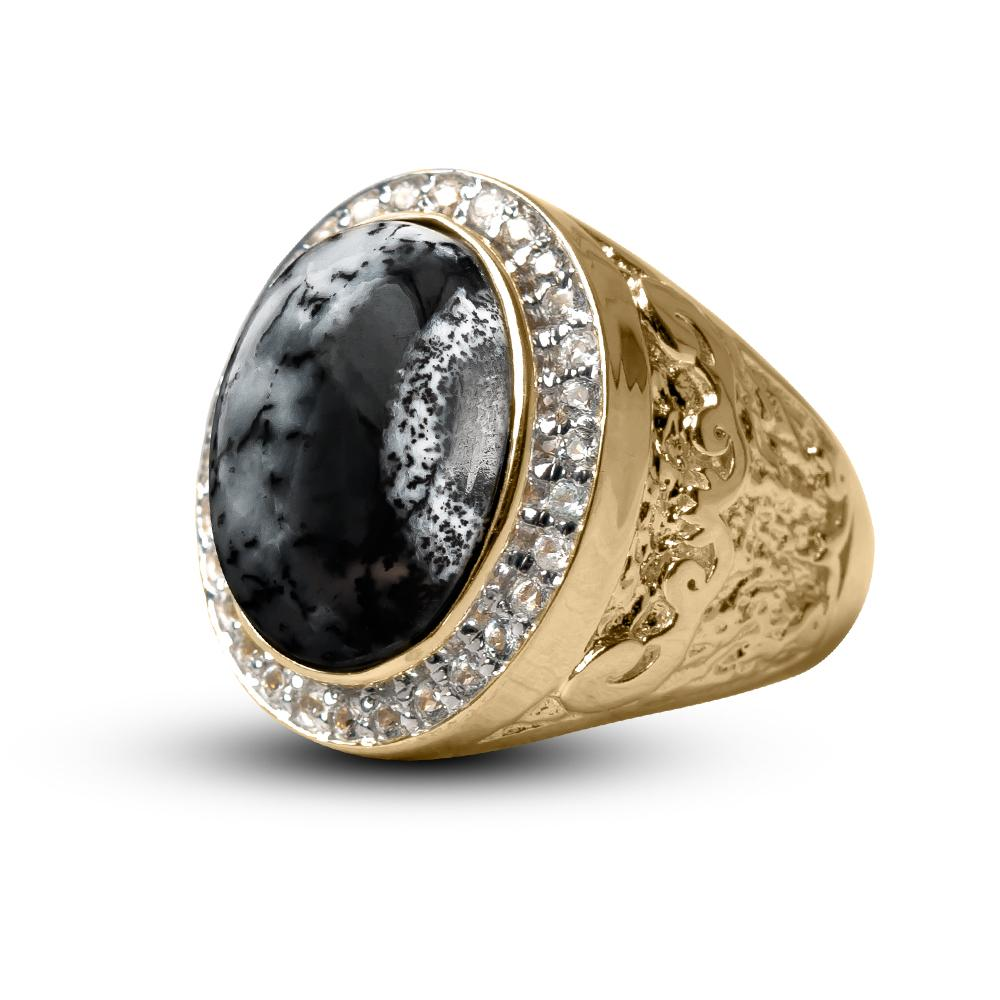 Men's Dendrite Opal Ring