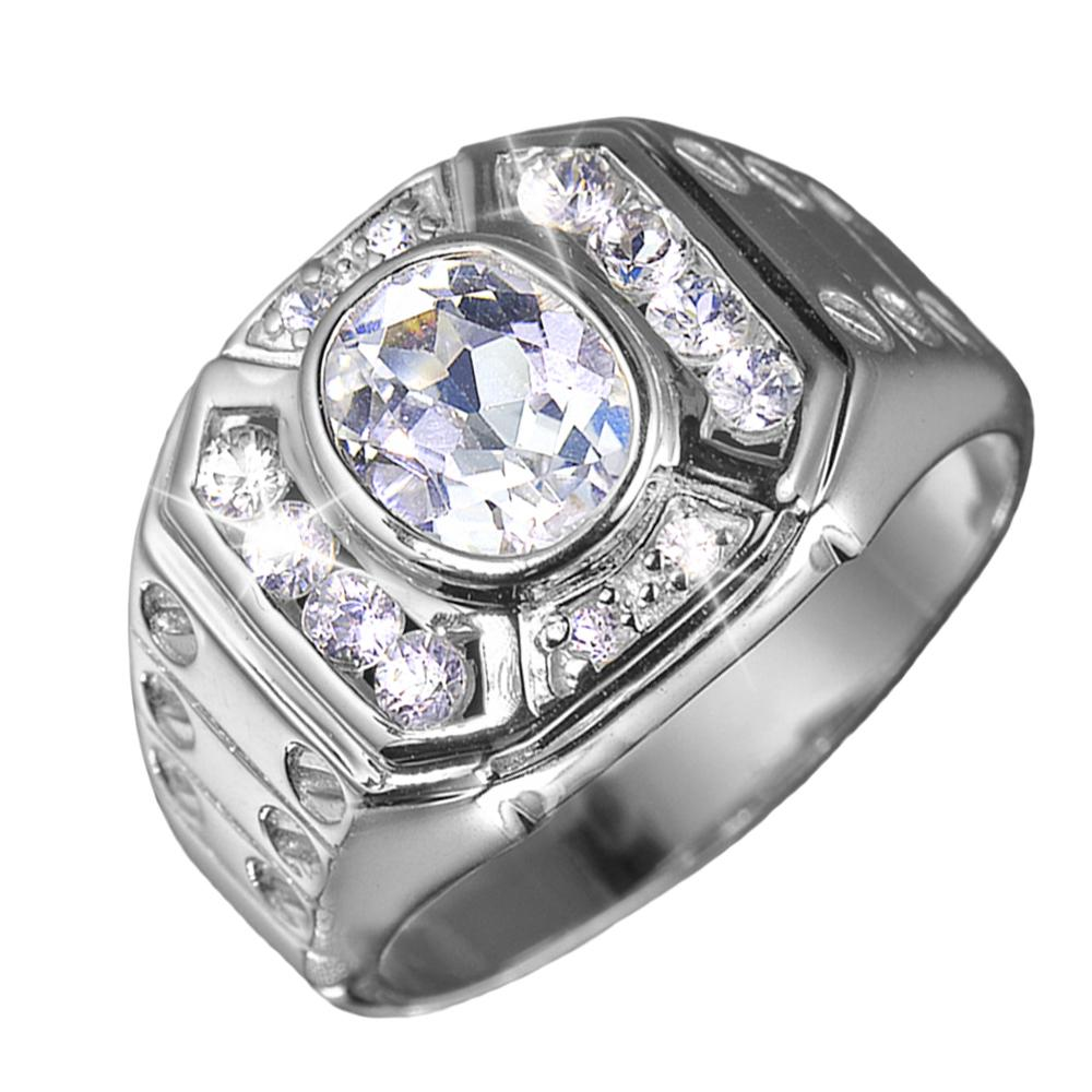 Treviso Rhodium Men's Ring