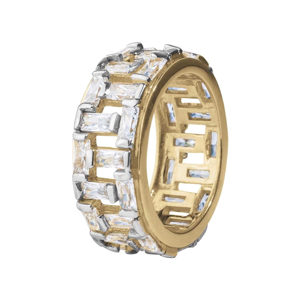 Bamboo Bay Gold Eternity Ring