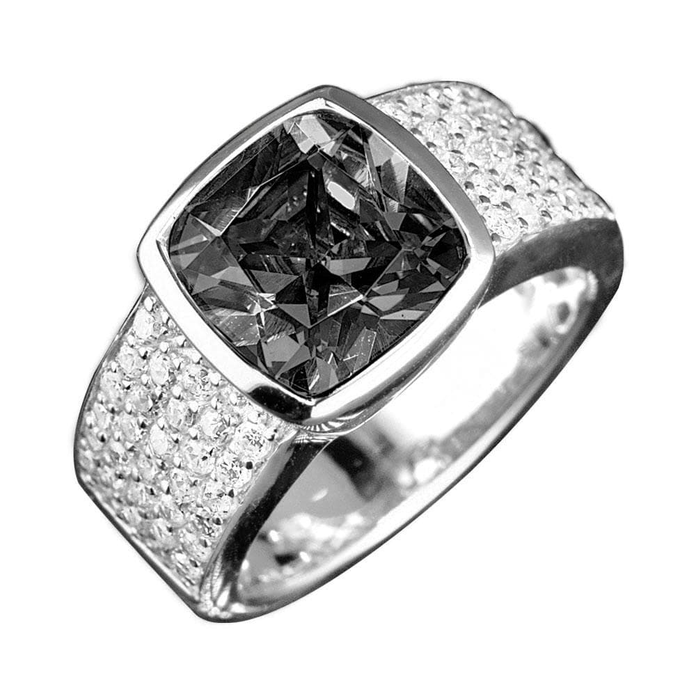Embassy Silver Ring (Black)