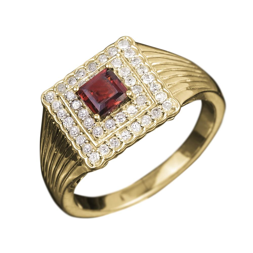 Maximo Diamond & Garnet Men's Ring