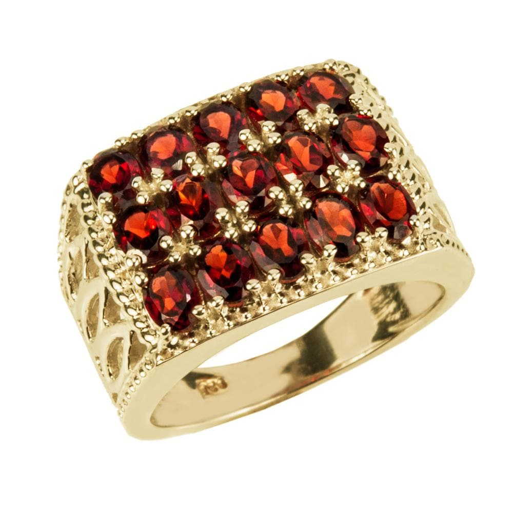 Diablo Garnet Men's Ring